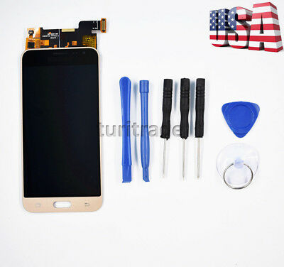 Gold Touch Screen Digitizer LCD Display For Samsung Galaxy J3 J320P/M/F US