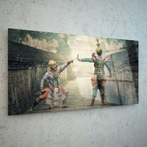 Picture Print Art Photo on Glass Rdy Hang Any Size Thailand Actors Thai p236171