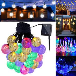 Solar-Power-DEL-Ball-Fairy-String-Light-Arbre-de-Noel-Jardin-Terrasse-Maison-Party-Decor