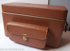 "Vintage Camera Compartment Case 17x10x7"" - Zipper Issue - Travel Bag - USED F04"