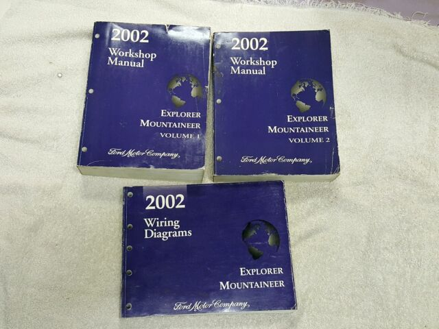 Oem 2002 Ford Explorer  U0026 Mercury Mountaineer Workshop