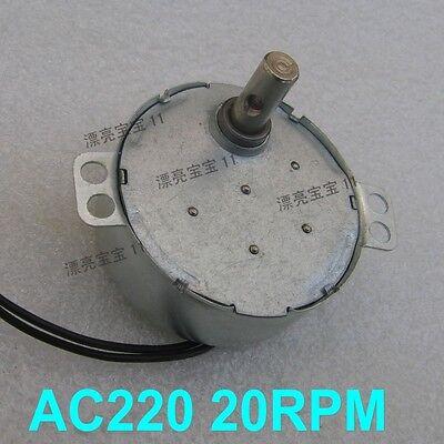 1PCS TYC49 AC220V Gear Motor 3.5W 20rpm Torque 1.2kg.cm Micro-motor