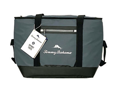 Tommy Bahama 30 Can BLUE Beach Bag Cooler Sport Tote Microban Tech NWT