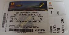 Ticket for collectors EL AIK Solna - SSC Napoli Sweden Italy 2012