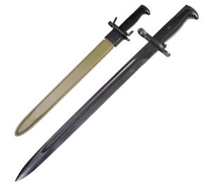 US-WWII-Bayonet-M1-Garand-Rifle-Knife-Style-Stainless-Steel-Black-Coated-Blade