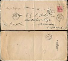 GB to IRELAND + REDIRECTED 1907 BUNCRANA BALLYMAGAU REDCASTLE + PERFIN LGT