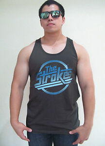 The-Strokes-Magna-logo-Music-Men-039-s-T-Shirt-Tank-Top-Vest-Graphic-Tee-100-Cotton
