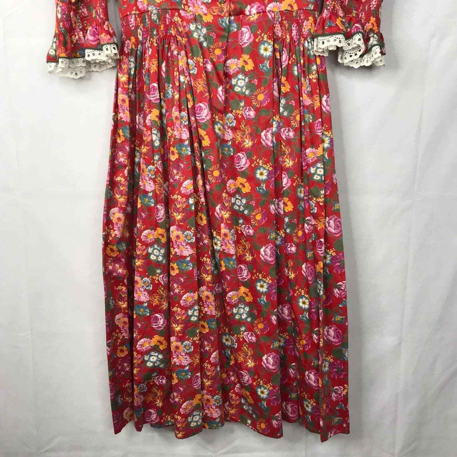 60s Style cottagecore floral prairie pleated dress - image 6