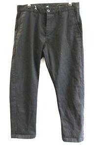 Da-Uomo-Obey-Nero-Cotone-Twill-STELLA-VAGABONDA-Pant-Pantaloni-Taglia-30-Girovita-Preloved-B93