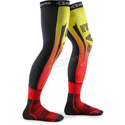 EVS Moto Socks Torino Hi-Vis Yellow//Red Mens Size L//XL MSOCKT-HIVIZ//R-L//XL