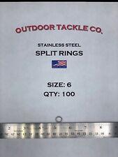 VMC LTSR-1 Line Tie Split Rings Size 1 13lb Test Stainless Steel Pack of 10