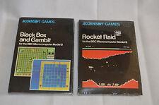 Acornsoft Games BBC Micro Computer Modello B Rocket RAID BLACK BOX Gambit 1982 NUOVO