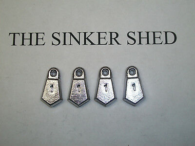 FREE SHIPPING 1 1//2 oz flat bank sinkers quantity of 10//25//50//100