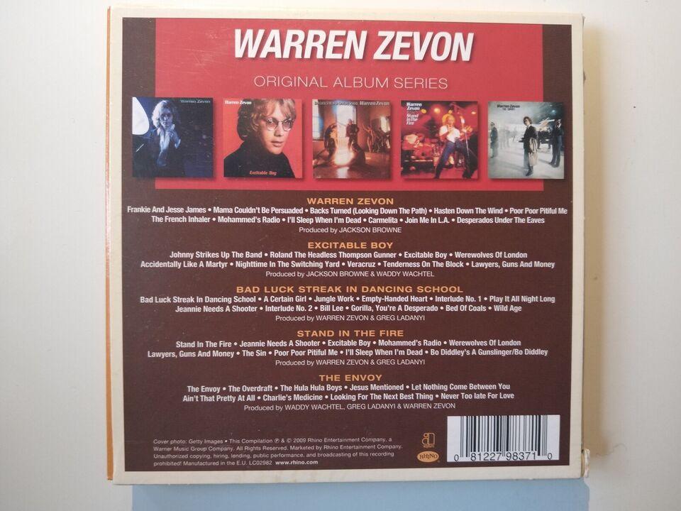 Warren Zevon: 5 albums, rock