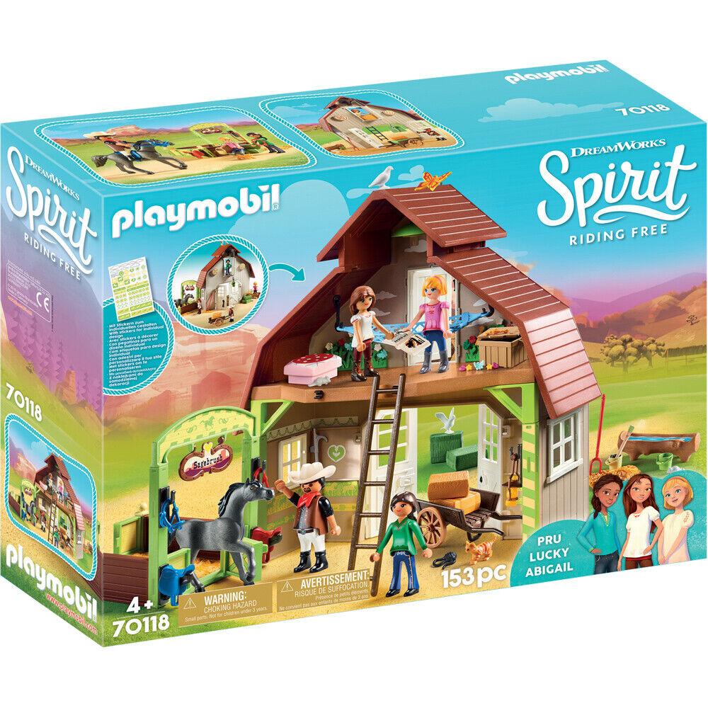 Playmobil 70118 Dreamworks Spirit Riding Free  Barn Playset with Figures