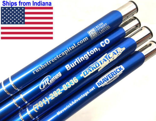 30pcs Engraved Premium Blue Ink Pen with Stylus