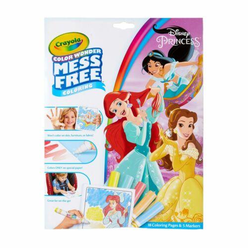 Crayola Color Wonder Disney Princess Coloring Pages /& Markers Mess Free Coloring