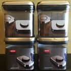 OXO Steel 2.4 Qt Food Storage Big Square POP Container 4 Piece Set NEW