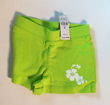 The Children's Place Florescent Green Frilly Bottom Summer Shorts Size 4 - NWT