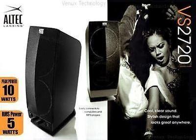 Altec Lansing 2.0 Powered Multimedia Speaker System 4 TV Laptop Computer PC iPod