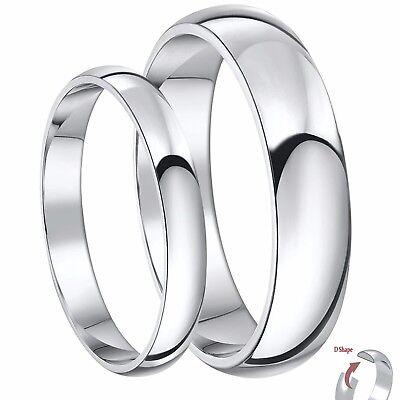 Platinum Wedding Rings.Platinum Wedding Bands His Hers 3 5mm Heavy Weight D Shape Wedding Rings Ebay