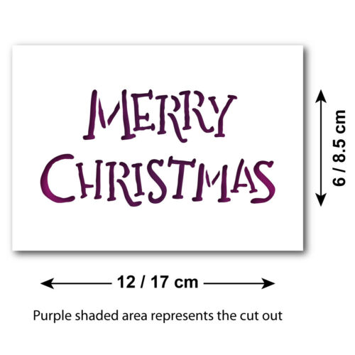 Handwritten Xmas Craft Template Mini //Small Merry Christmas Stencil