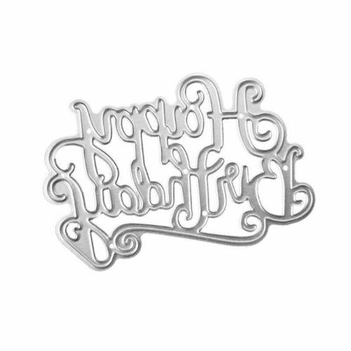 Happy Birthday Letter Cutting Dies Metal Stencil DIY Scrapbooking Album Card Art