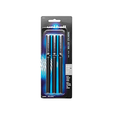 Uni Ball Deluxe Rollerball Pens Micro Point 05mm Black 3 Count