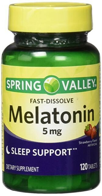 Spring Valley Fast Dissolve Melatonin 10 Mg 120 Tablets 681131074032