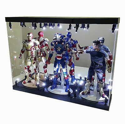 """Acrylic Display Case Light Box for TWO 12/"""" 1//6 Scale Figure Nick Fury Maria Hill"""