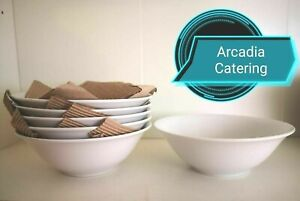 White-Cereal-Breakfast-Bowls-Porcelain-Oatmea-7-034-l-Bowl-x6