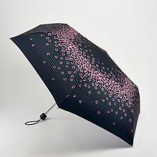 Fulton Damas Superslim Paraguas Plegable Compacto - 2 lloviendo Rosas
