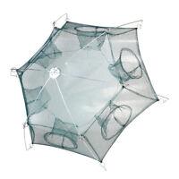 Folded Fishing Net Cast Mesh Trap Cage Dip 6 Sides Catch Shrimp Crab Baits Net