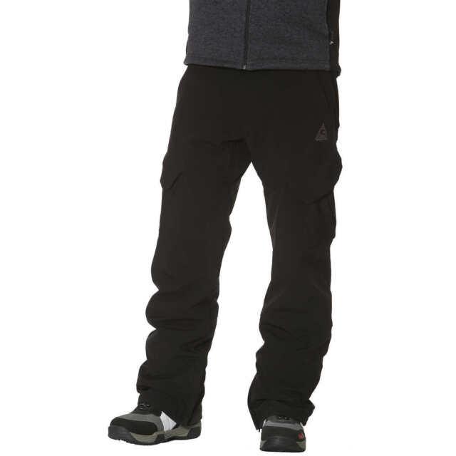 6038ec833e226 Gerry Mens Snow-tech Fleece Lined 4 Way Stretch Snow Ski Pants Black ...