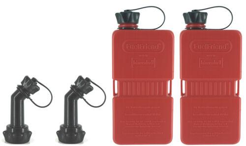 Füllrohr verschließbar 2x FuelFriend®-PLUS 1,5 Liter Mini-Reservekanister