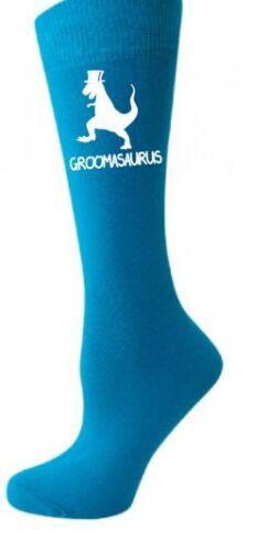 wedding 4 colours groom wedding  dinosaur Groomasaurus print mens socks