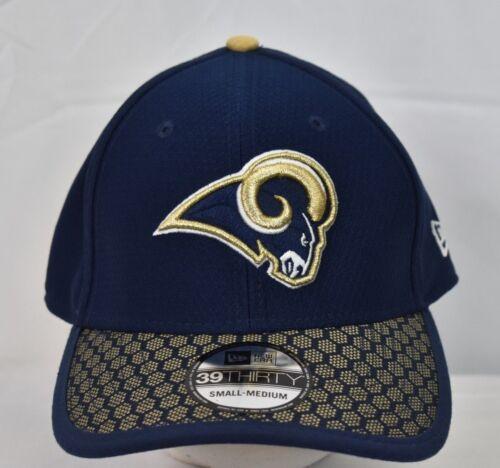 New Era 39Thirty Herren NFL Los Angeles Rams auf dem Spielfeld Hut Kappe NWT-S //