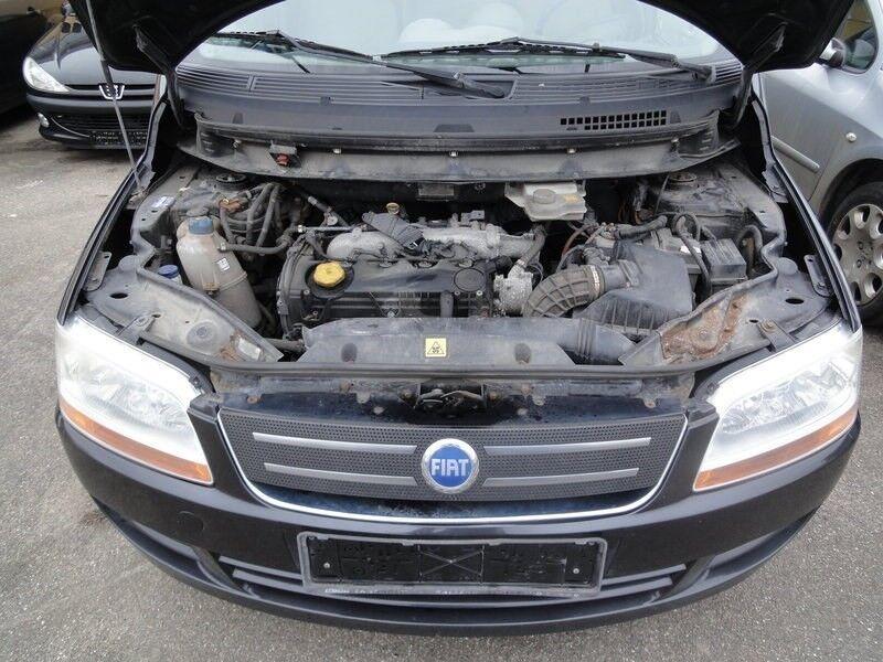Fiat Multipla 1,9 JTD Active Van Diesel 2006 sortmetal km