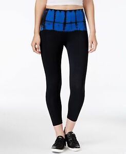 New-Calvin-Klein-Performance-Women-039-s-Black-Blue-Leggings-Active-Pants-PF6P0770