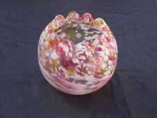 Vase boule verre moucheté style Legras façon Clichy