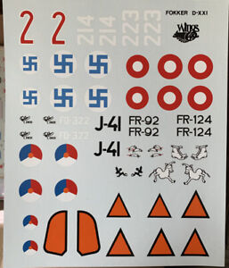 Fokker-D-XXI-Decal-Set-48th-Scale
