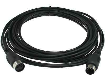 10ft MIDI Extension Cable 5 Pin DIN Male to Female - Black