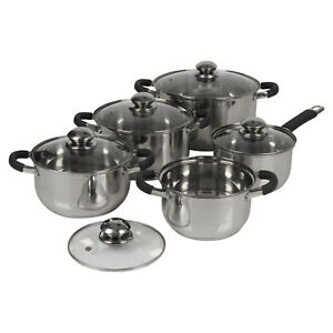 Berger-10pc-Stainless-Steel-Cookware-Set-Saucepans-Lid-Cooking-Food-Frying-Pans