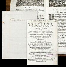 1666 Medizin Fieber Bauhin Hegner Disputatio medica Basel