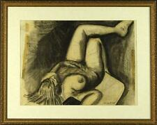 """Lucian Freud """"Nude"""" Original charcoal on paper - hand-signed by artist"""