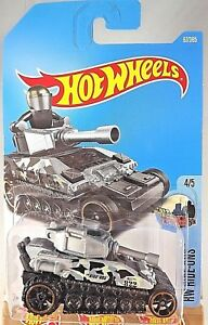 2017-Hot-Wheels-67-HW-Ride-Ons-4-5-TANKNATOR-Gray-w-Black-OH6-OH5-Spokes