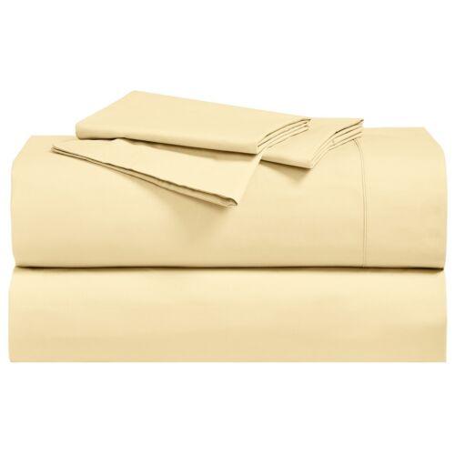 Split King Abripedic Percale Breathable Crispy Super Soft Sheets 300 Threadcount