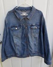 Ava & Viv Stretch Denim Blue Jean Jacket in Blue 4X Cotton/Spandex NWT stretch