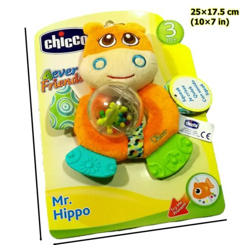Hippo Baby Kid Toddler Rattle Crinkle Squeaky Crib Stroller Bed Toy Chicco Mr