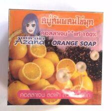 Thai Herbal Orange Extract Pearl Powder Soap Collagen Whitening Soft Skin Care